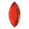 Acrylic 16x7mm Navette Bright Red